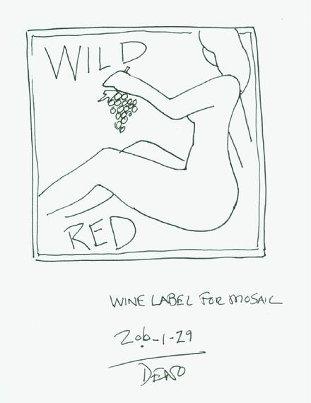 2010-1-29 sketch for mosaic wine label