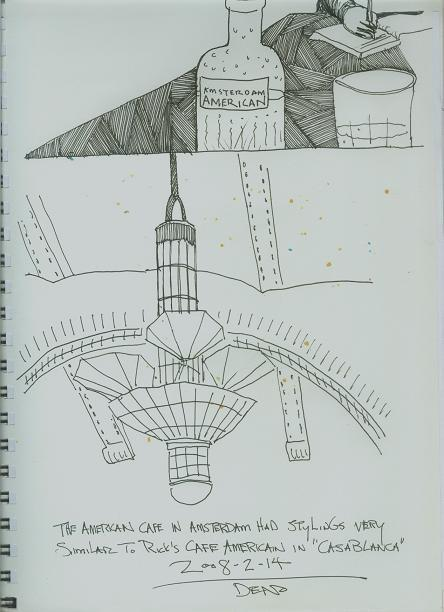 Amsterdam Sketchbook - The American Cafe
