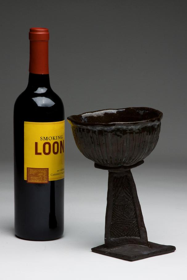 black clay Goblet