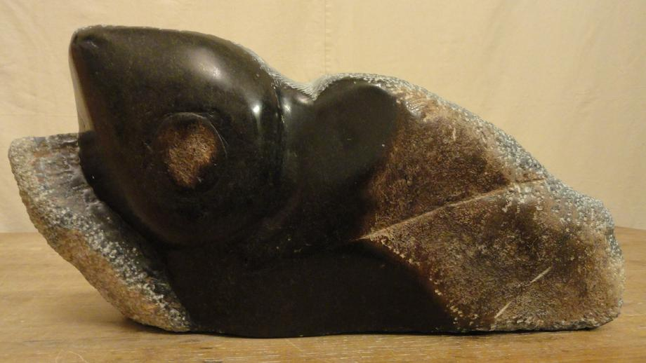 """Relieved Torso"" - Carved Zimbabwean Spring Stone"
